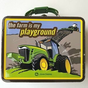 "John Deere Metal Lunchbox ""Farm Is My Playground"""
